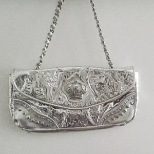 SALE  VINTAGE 90's Baby phat  silver shoulder bag